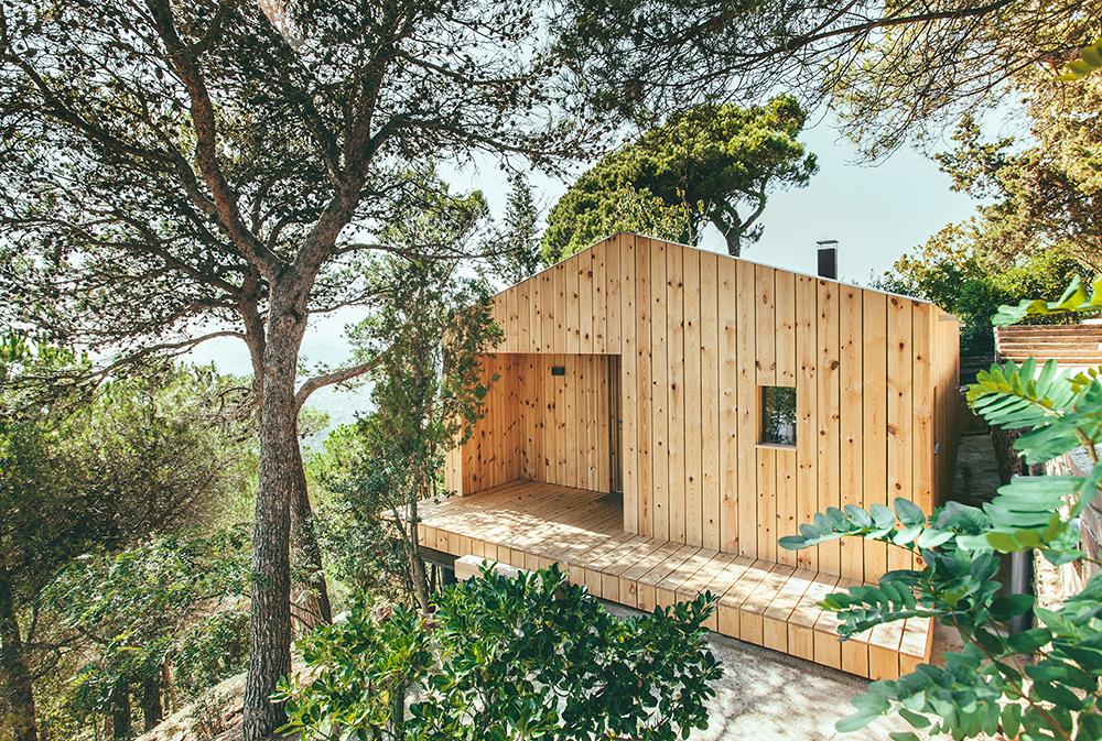 Wood studio house dom arquitectura - Arquitectura sant cugat ...