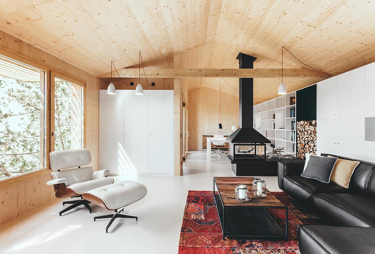 Casa estudio de madera dom arquitectura for Casa estudio arquitectura